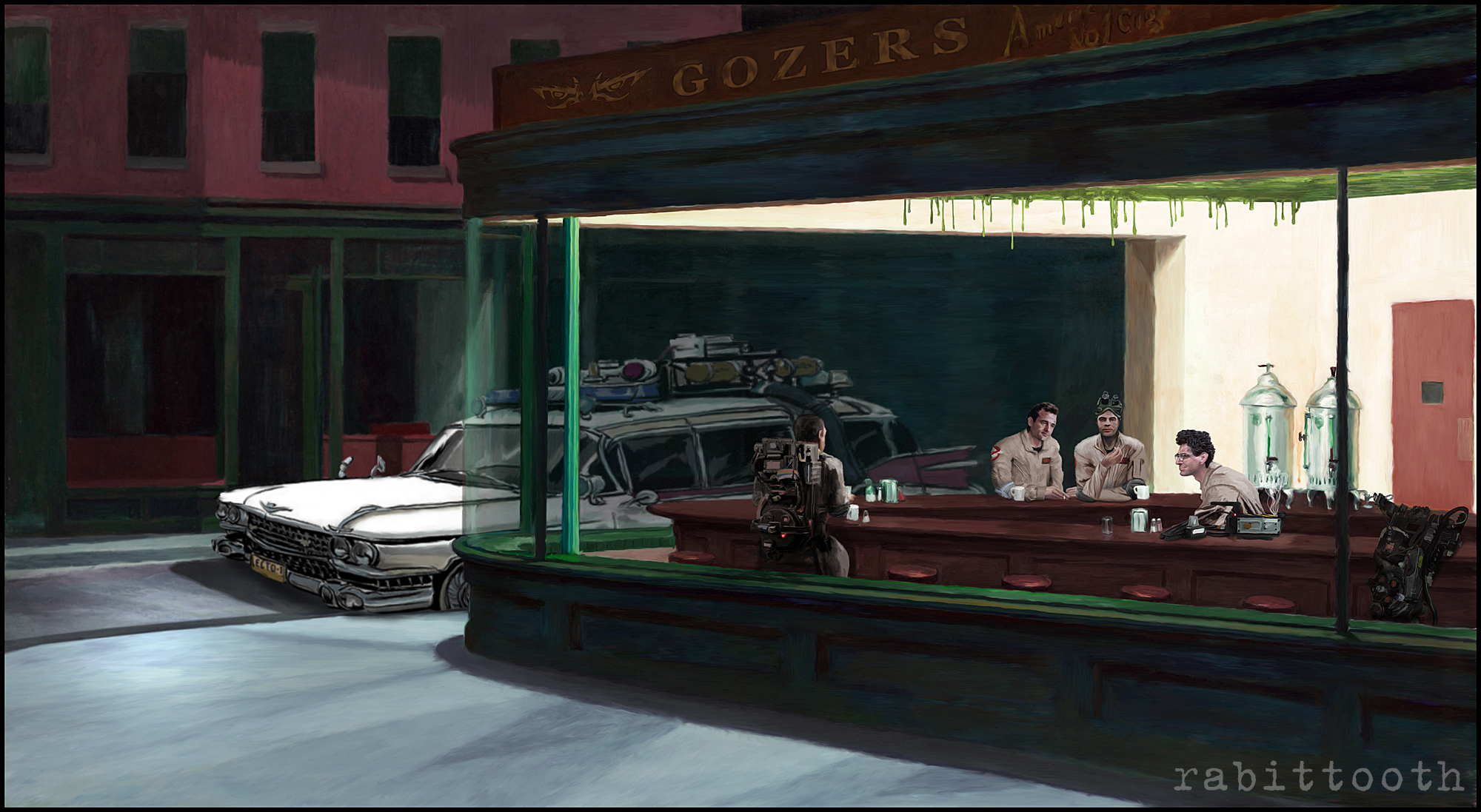NightBusters ( Nighthawks / Ghostbusters ) by Rabittooth ...