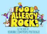 Food Allergy Rock! tee shirt design