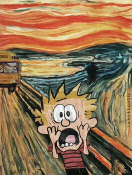 The Back to School Scream (Calvin / Munch)