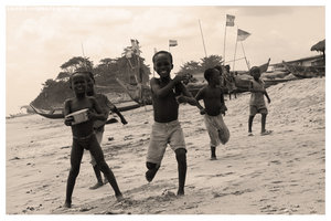 Children at Ghana III by Sepia-Club