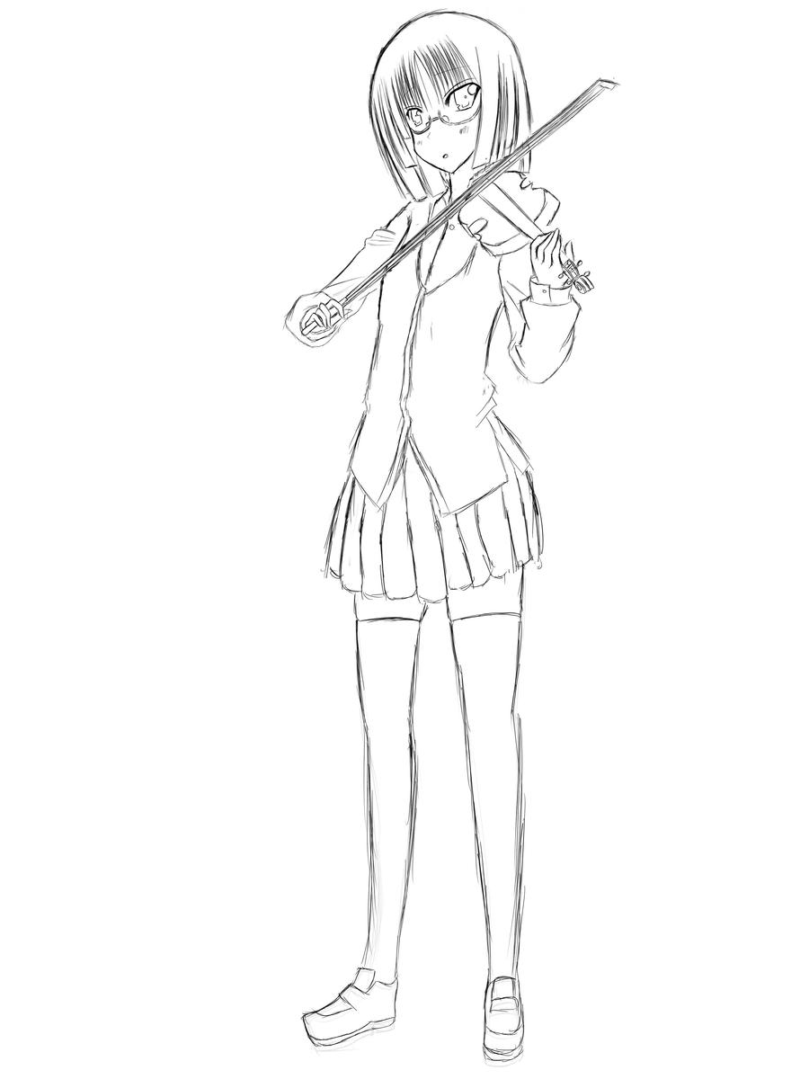 Anime Violinist Drawing   www.pixshark.com - Images ...