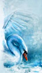 Blue Swan by jeroenvv