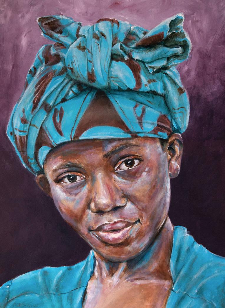 Ugandan woman by jeroenvv