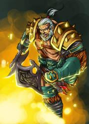 Diablo 3: Barbarian by paneseeker