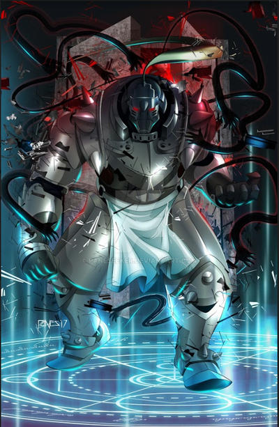 Commission Art: Alphonse Elric by paneseeker