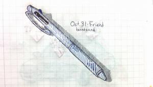 Inktober Uni Ballpoint Pen