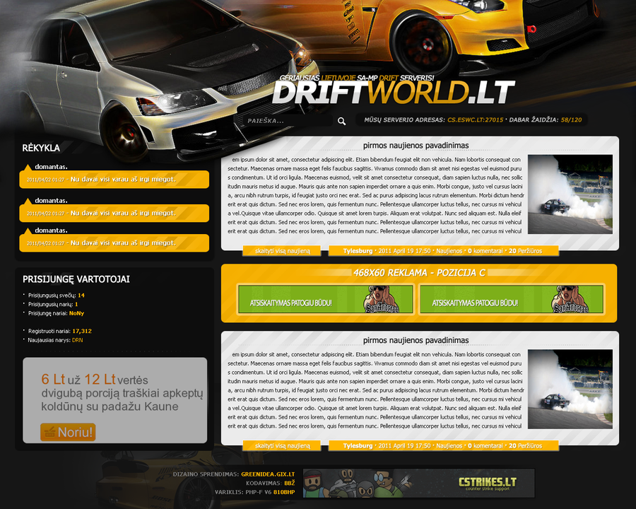 DriftWorld.lt by NoNiuss