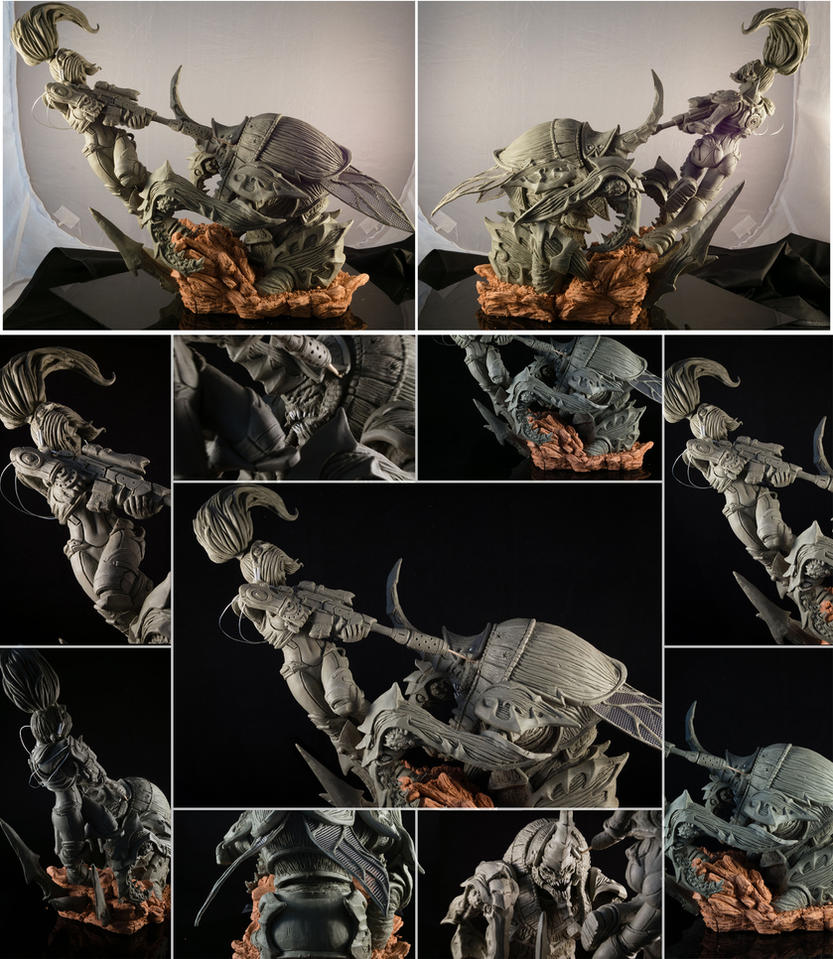 Anub'Arak vs Nova Sculpture by MankejDesigns