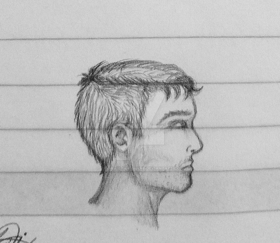 Portrait Sketch by Sylver-Star-Shyne
