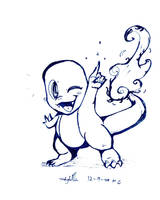 Charmander LineArt by KirbySuperStar96