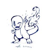 Charmander LineArt by KirbySuperStar96