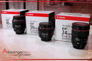 Canon EF prime lenses