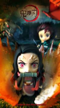 Nendoroid Demon Slayer TANJIRO and NEZUKO KAMADO 6