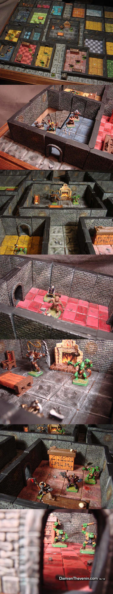 Heroquest gaming table wip 02 by damienthevenin on deviantart for Table th 00 02