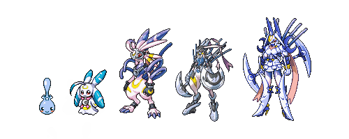 Lunamon Evolution Chart It s a balance type