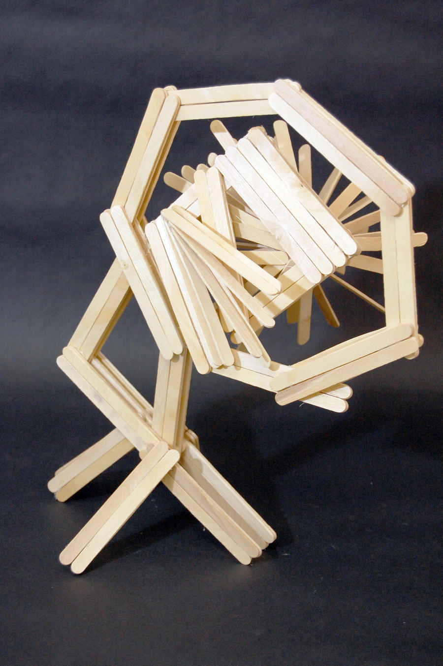 Popsicle Stick Sculpture Burst 1 By Kibumi24