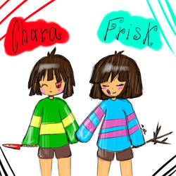 Chara and Frisk by RuddyFeeD