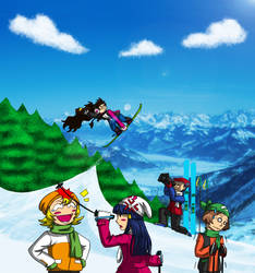 Because skiing is the most awesome thing