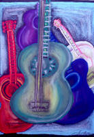 Pastel Guitars by LaStrega