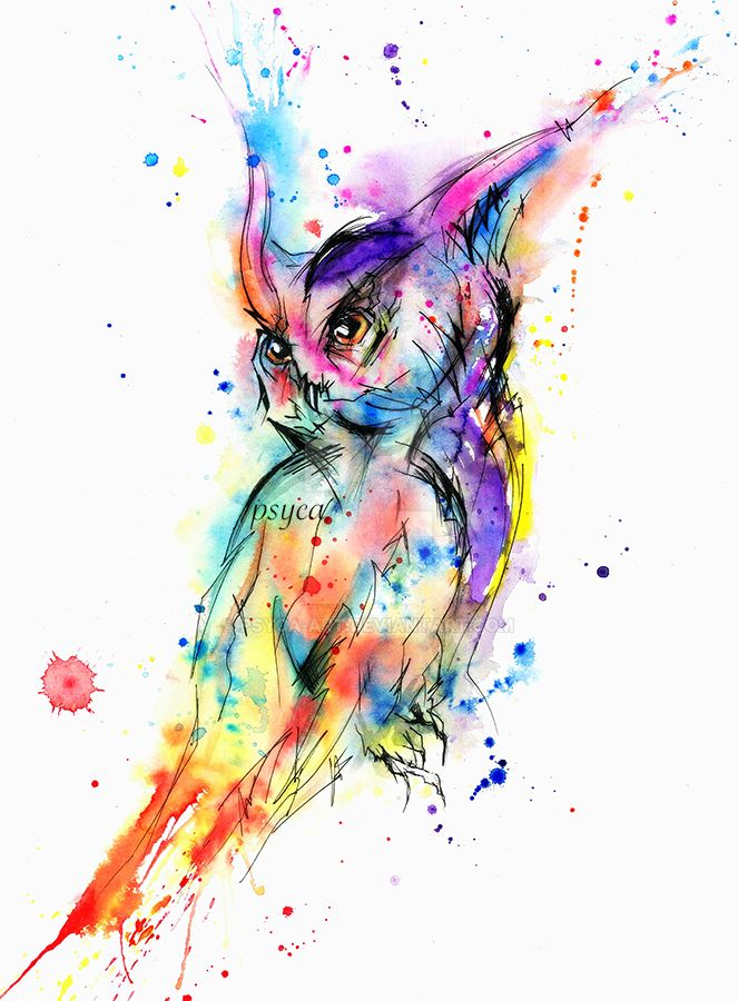 abstract owl by psyca