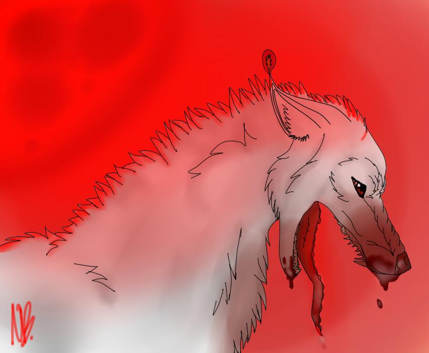 Bloody moon by NocteBruti