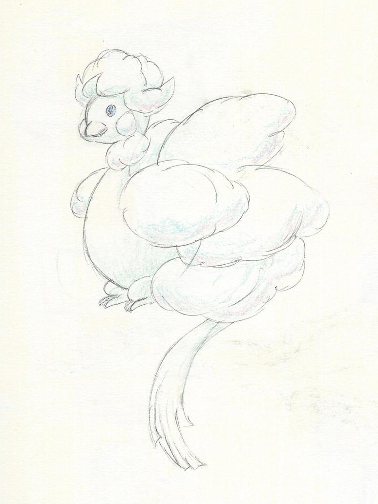 fluffy chicken god by MrGlassesMan