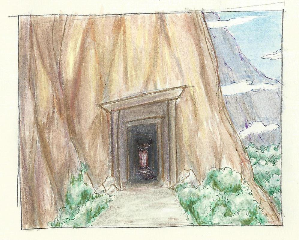 mountain entrance by MrGlassesMan