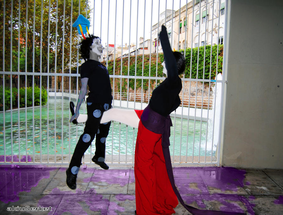 3x SHOWDOWN COMBO - Gamzee and Kanaya / Homestuck by akiuSerket