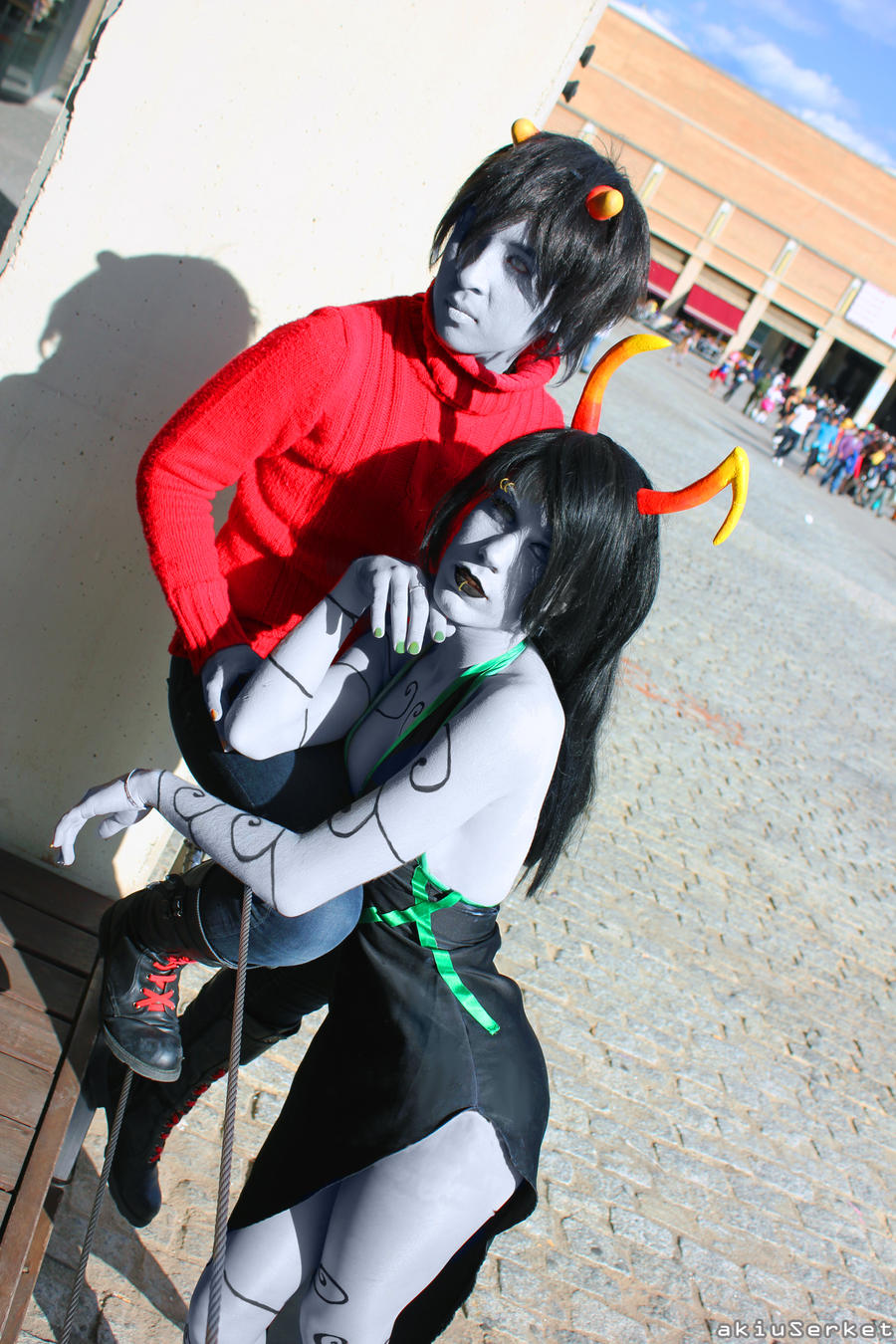 Porrim and Kankri cosplay - Homestuck by akiuSerket