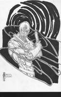 Daredevil Sketch Commish by pyroglyphics1