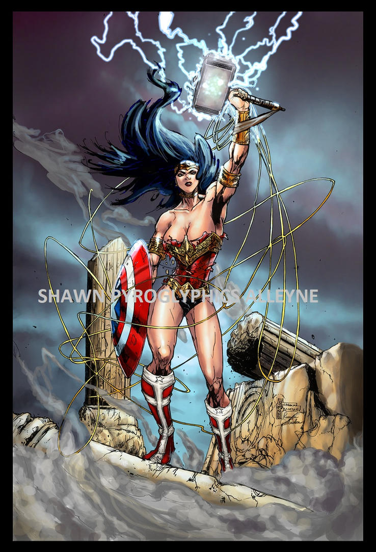 wonder woman victorious by pyroglyphics1 on deviantart