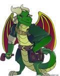 Spyro reignited trilogy - Nestor by charliethemew012