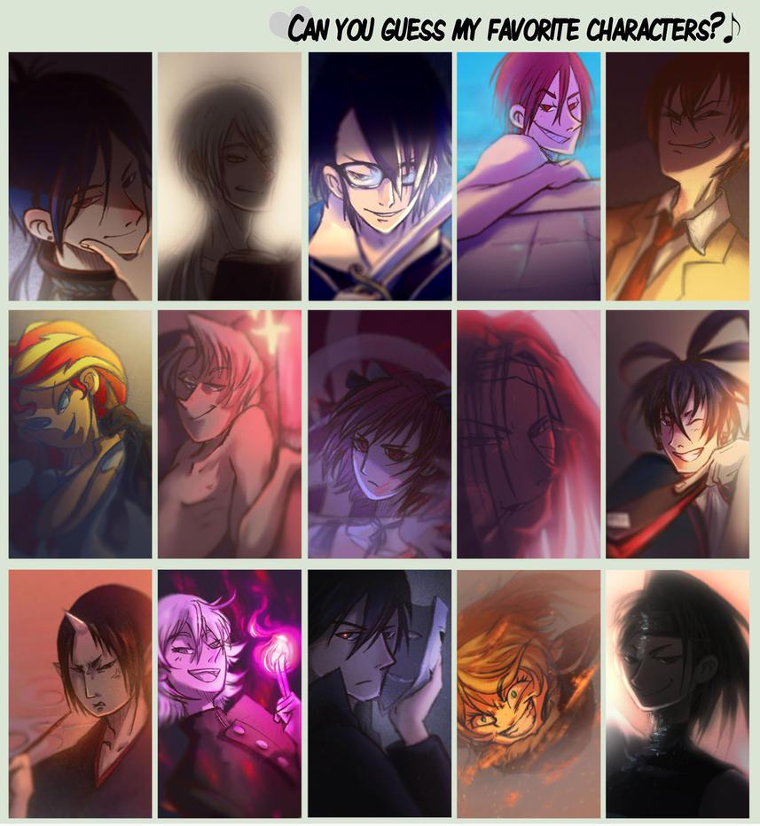 My Fav Characters Meme by sinsofJoy