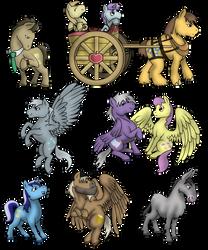 Background Ponies (Volume 3) by PhilosophyPony