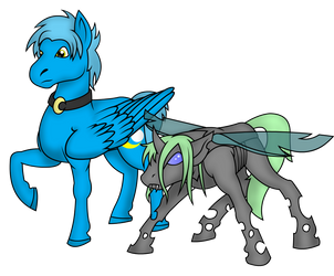 Umi and Scrit (Art Trade) by PhilosophyPony