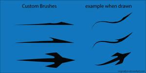 Free Vector Sharp Arrow Art Brushes