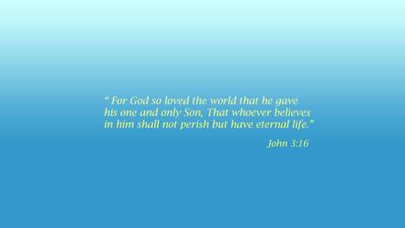 Bible Verse John 3:16 by orginaljun