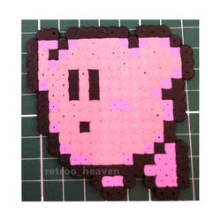 Kirby Nes 8 Bit Hamabeads Sprite Perler Pixel Art by orginaljun