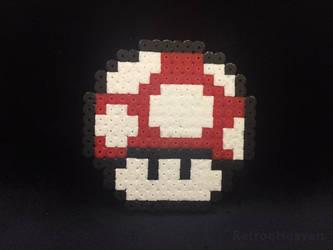 Perler Pixel Art: Mushroom Nes 8 Bit Hamabeads by orginaljun
