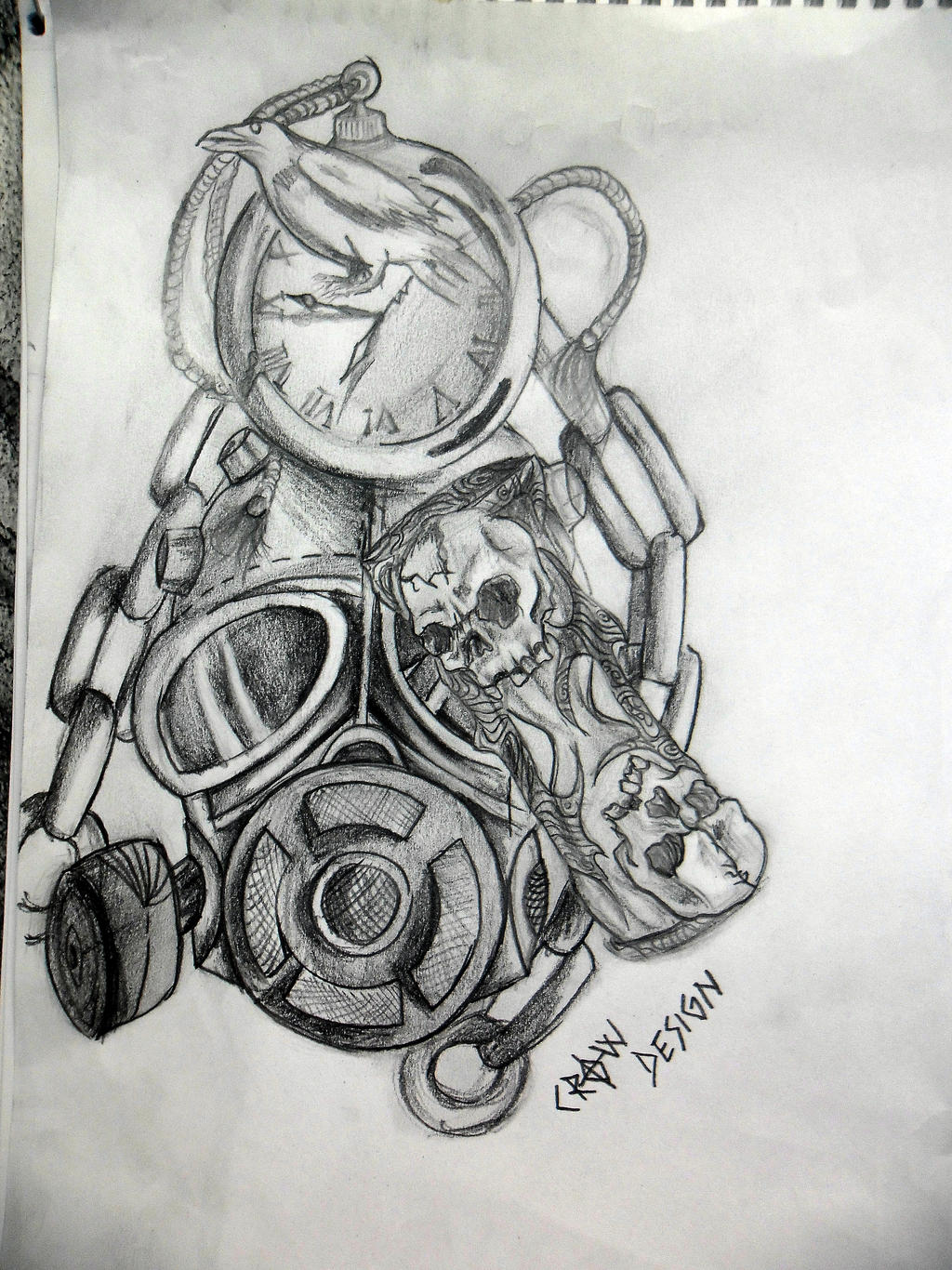 Time is Money Tattoo Designs For Men And Time Tattoo Design by