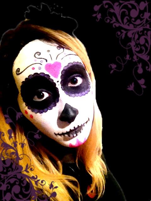 Sugar Skull: Halloween Make-up by chimocho