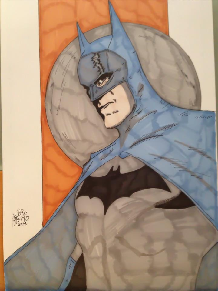 Old School Batman by vengaza