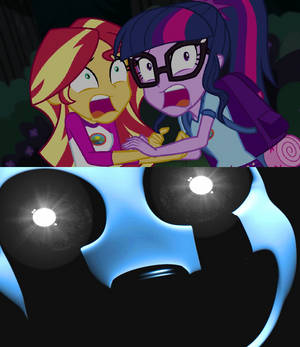 Sunset and Sci Twi Scared of Nightmarionne