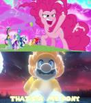 Giant Pinkie Pie and Giga Cat Mario