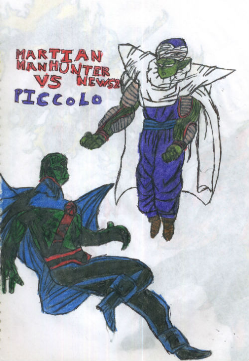 Martian Manhunter New 52 Vs Piccolo by thorman