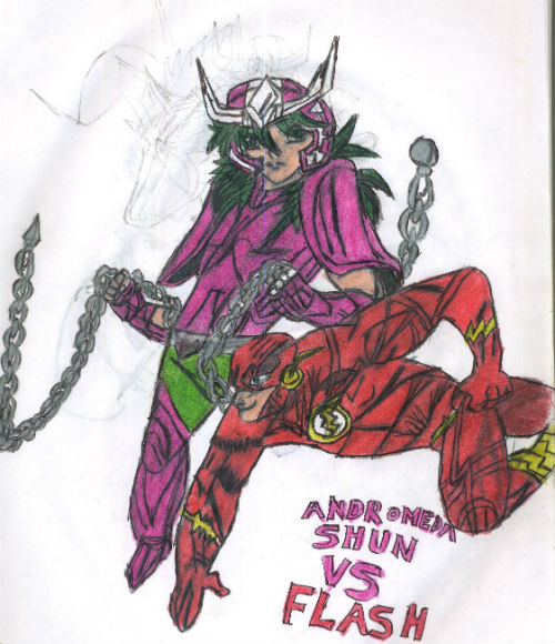 Andromeda Shun Vs Flash by thorman