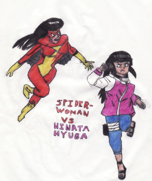 Spider-woman Vs Hinata Hyuga by thorman