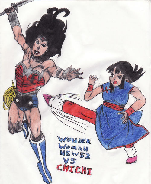 Wonder Woman New 52 Vs Chichi by thorman