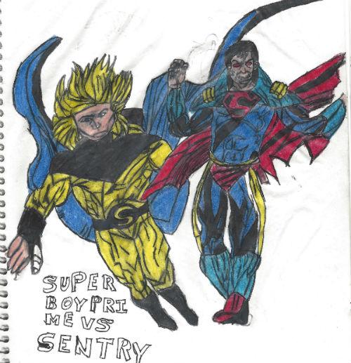 Superboy Prime Vs Sentry by thorman
