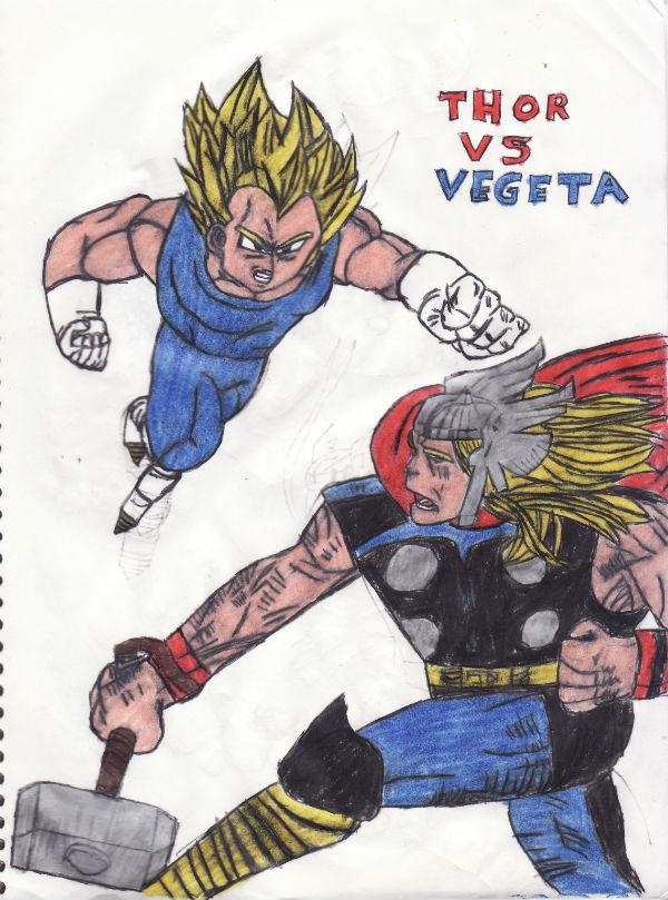 Thor Vs Vegeta by thorman